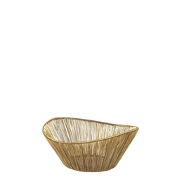 Everyday Gold Rhythm Wire Basket