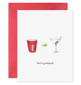 Everyday You've Graduated Martini Card