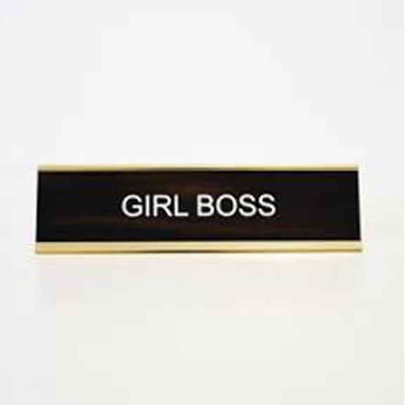Everyday Girl Boss Name Plate