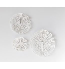 Everyday Small White Handmade Round Paper and Metal Wall Decor