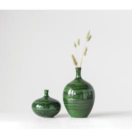 """Everyday 5 1/2"""" x 5"""" Malachite Gaze Vase"""