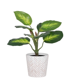 "Everyday 6.5"" Bergen Herringbone Ceramic Pot"