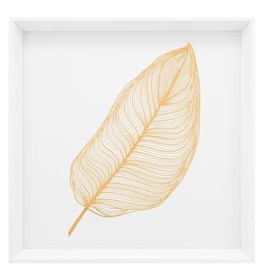 "Everyday 17"" Square Gold Banana Leaf Canvas Print"