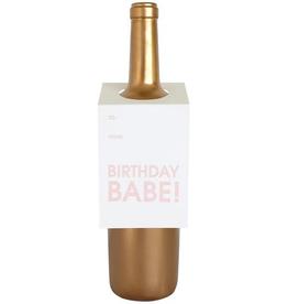 Everyday Birthday Babe Wine Tag Card