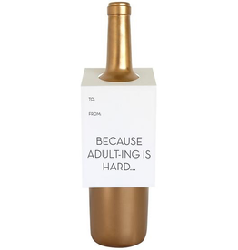 Everyday Adulting is Hard Wine Tag Card