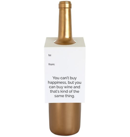 Everyday Can't Buy Happiness Wine Tag Card