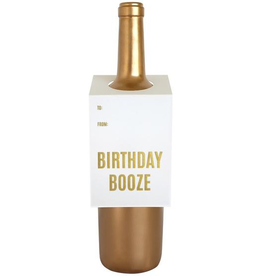 Everyday Birthday Booze Wine Tag Card