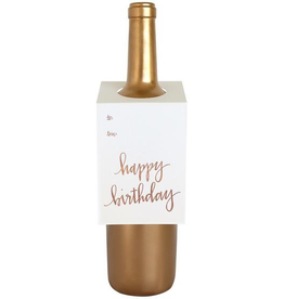 Everyday Happy Birthday Rose Gold Foil Wine Tag Card