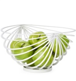 Everyday White Eclipse Rib Fruit Basket