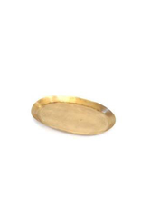 "Everyday 8.5"" x 5"" Brass Oval Tray"