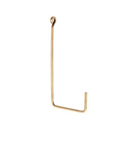 Everyday Single L Shape Medium Brass Hook