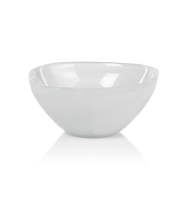 "Everyday 5.5"" White Alabaster Glass Monte Carlo Bowl"