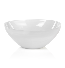 "Everyday 11.5"" White Alabaster Glass Monte Carlo Bowl"