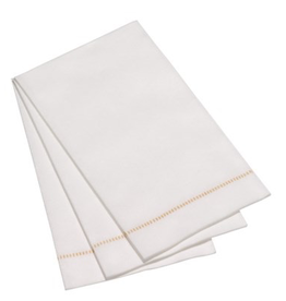 Everyday 15 Pack Gold Hemstitch Guest Napkin