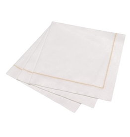 Everyday Pack of 15 Gold Hemstitch Dinner Napkin
