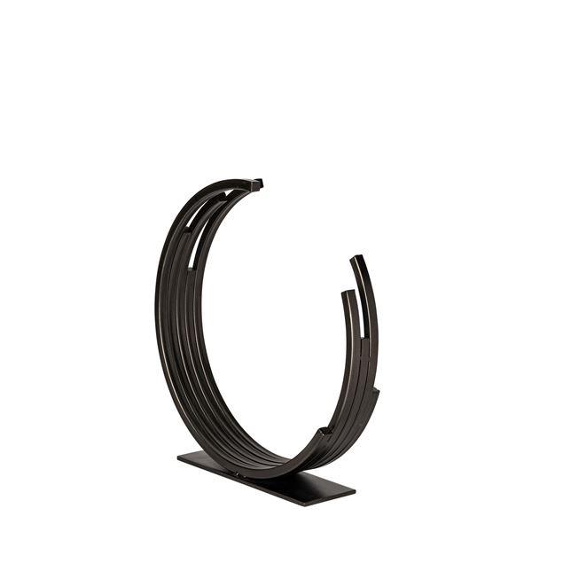 "Everyday 14"" Small Taj Black Broken Circle Sculpture"