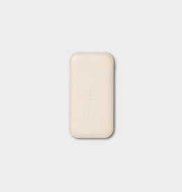 """Everyday 5.5"""" x 2.9"""" Cream Portable Wireless Charger"""