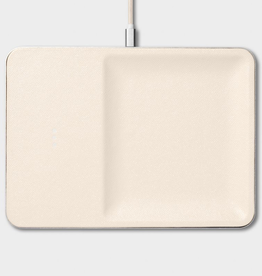 """Everyday 11"""" x 8"""" Cream Wireless Charger"""
