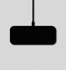"""Everyday 7.8"""" x 3.1"""" Black Wireless Charger"""