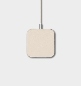"""Everyday 3.9"""" x 3.9"""" Cream Wireless Charger"""
