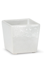 Everyday White Mini Square Planter