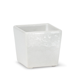 Everyday White Mini Square Planter