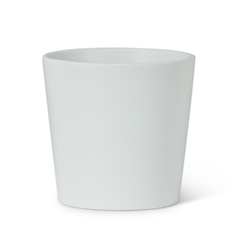"Everyday 3.25"" White Tapered Ceramic Planter"
