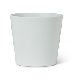 "Everyday 5"" White Tapered Ceramic Planter"