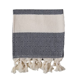 Everyday Carbon Diamond Turkish Hand Towel