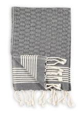 Everyday Black Textured Turkish Hand Towel
