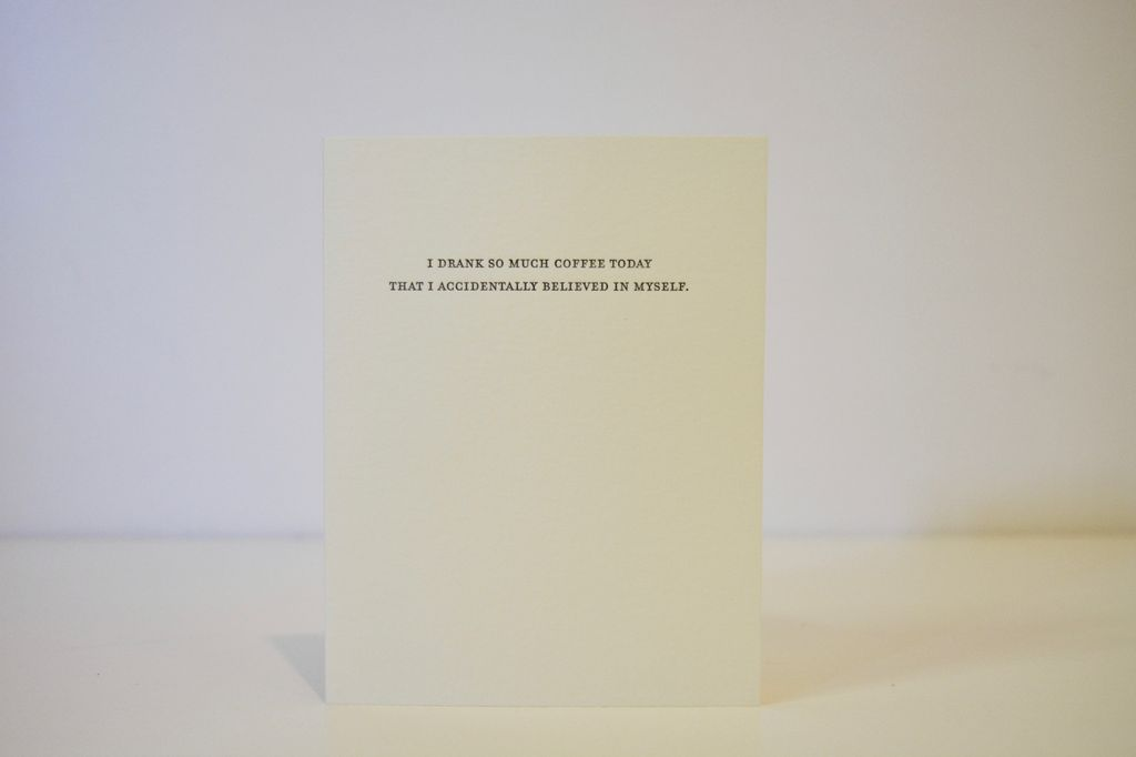 Everyday Coffee Confessions Card