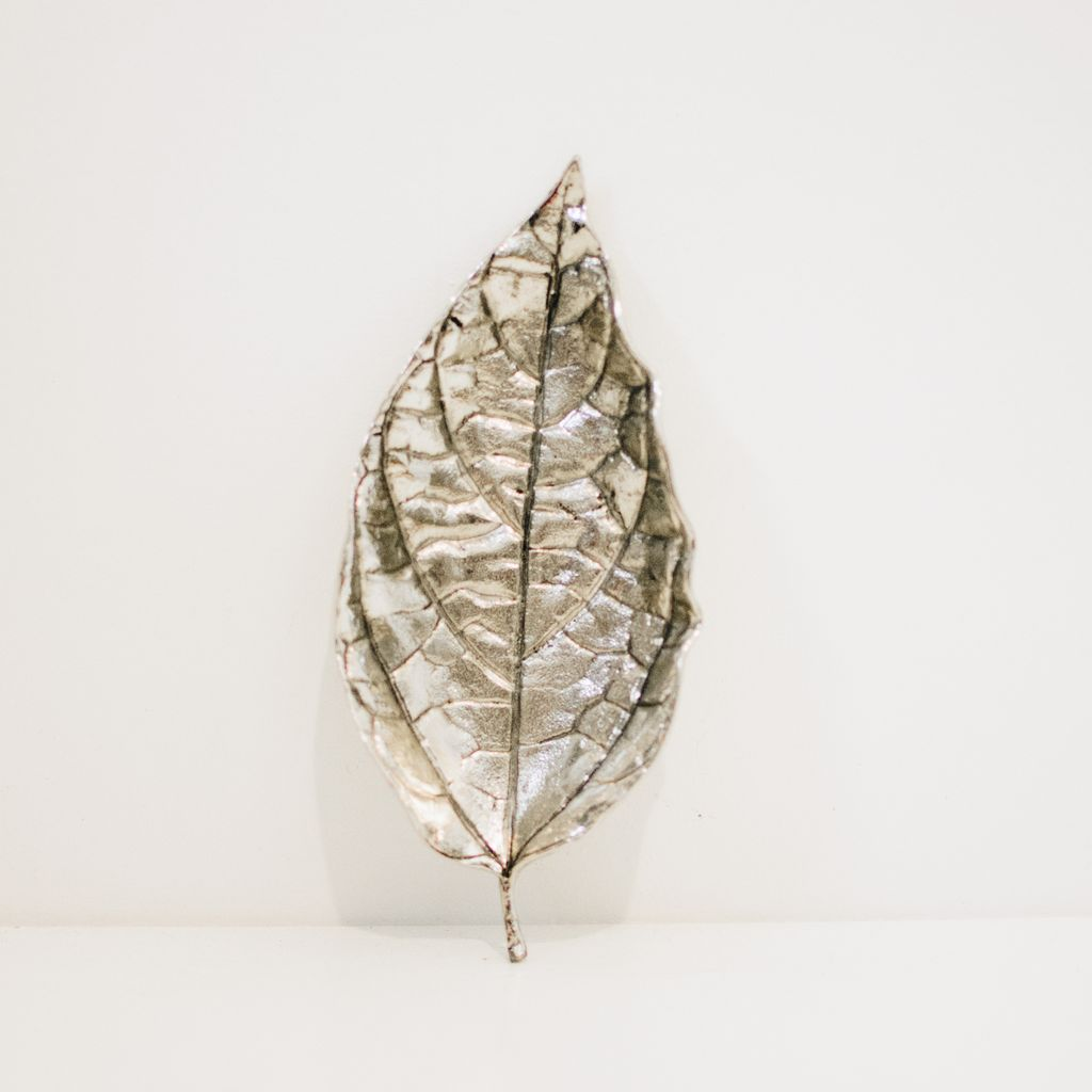 Everyday Silver Osage Orange Leaf Tray