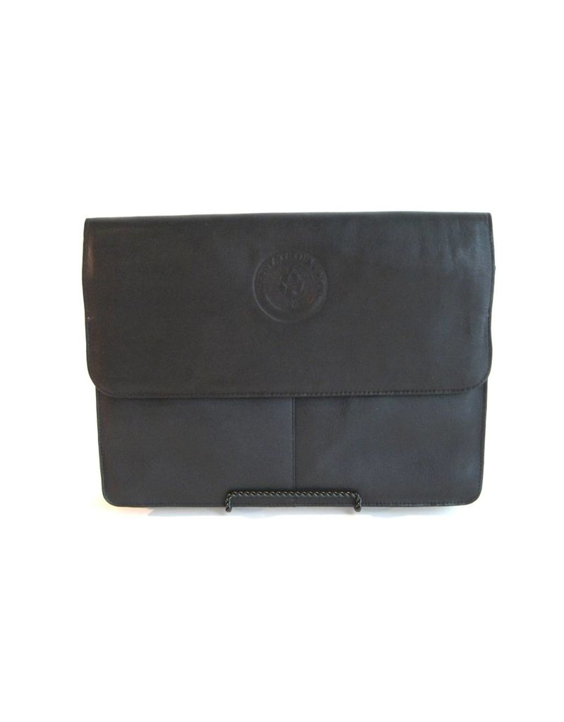 Three Section Flap Portfolio BLK - Texas  State Seal