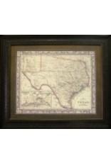 Texas Art - 1860 County Map of Texas