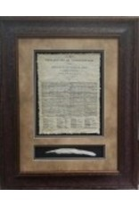 Texas Art - Declaration  of Independence with Quill