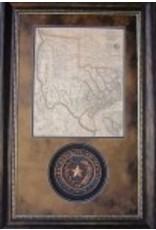 Texas Art - Rep. of Texas Seal & Map