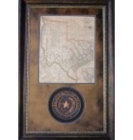 Texas Art - Rep. of Texas Seal & Map