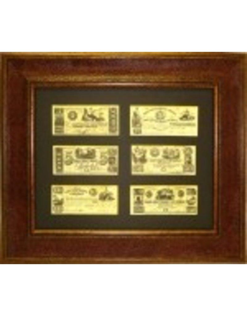Texas Art - Republic of Texas Money 16x20