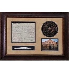 Texas Art - Travis letter w/ seal