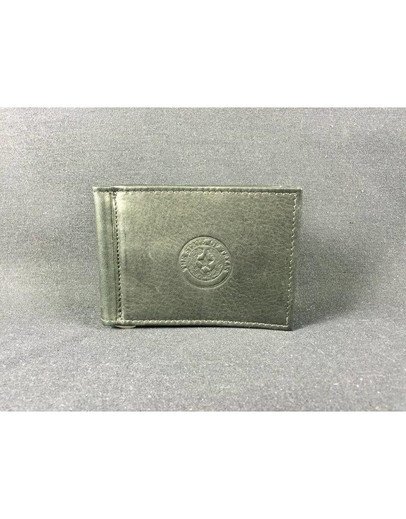 Bi-fold Money clip - BLK - Texas State Seal