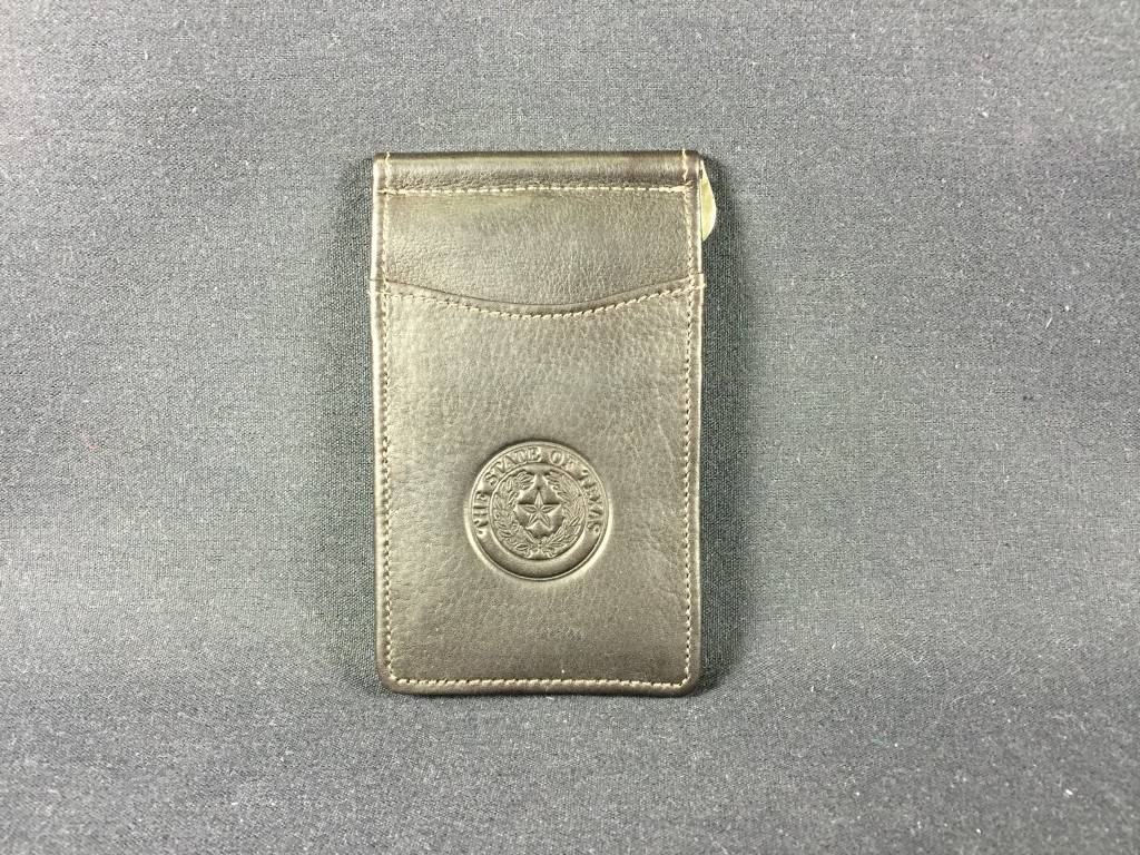 Bi-fold Money clip w/ ID - CHO -Texas State Seal