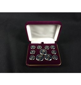 Blazer Button Set - Nickel w/ Blue - Texas Star