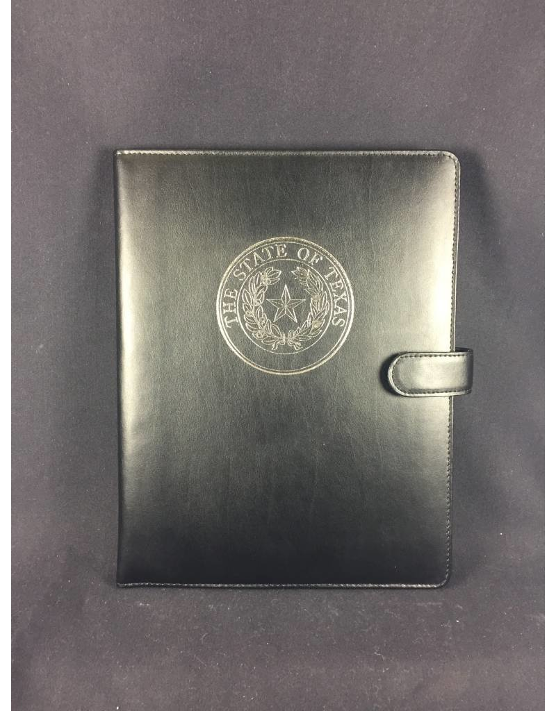 Bonded Leather Portfolio - Texas State Seal