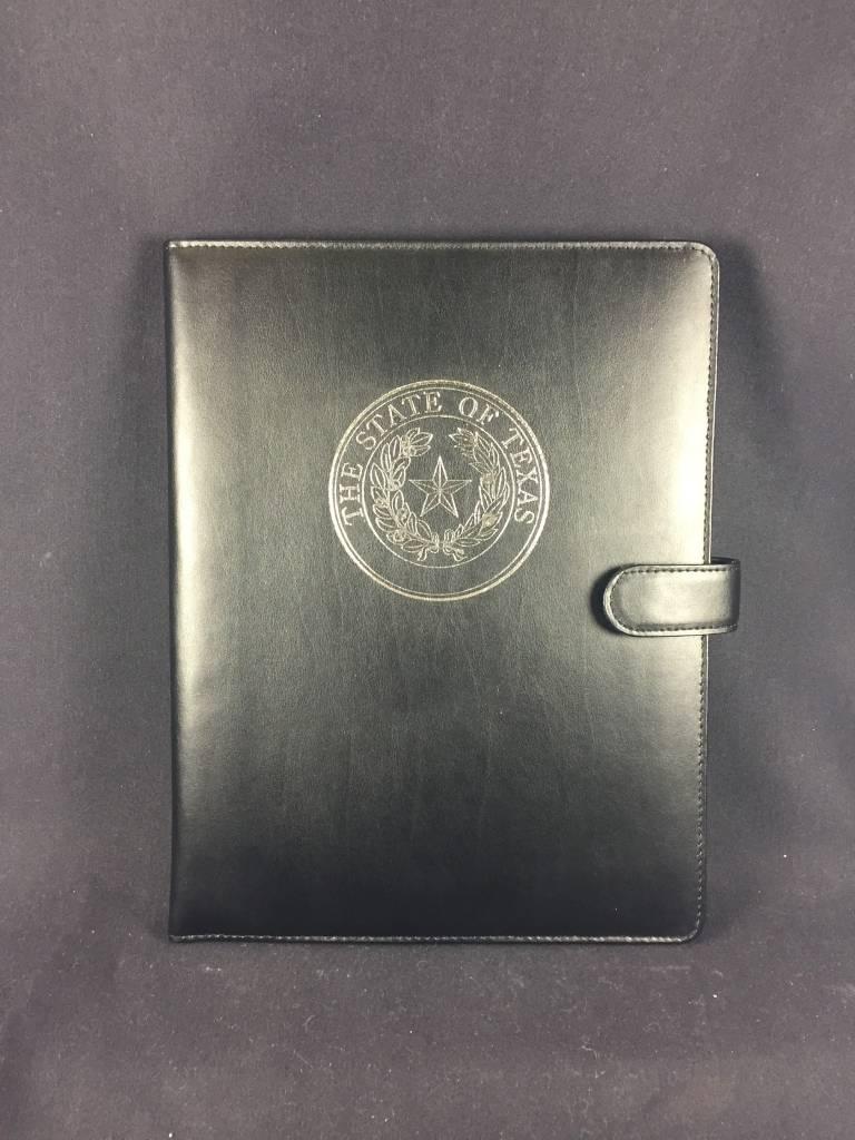 Bonded Leather Portfolio - Texas State Seal