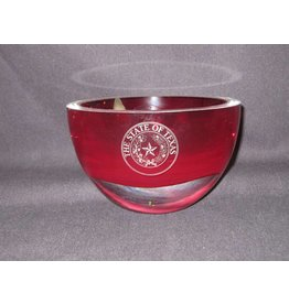 """Bowl / Penelope / Red / 6"""" / Texas State Seal"""