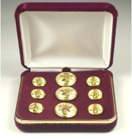 Blazer Button Set - Brass - Texas Star