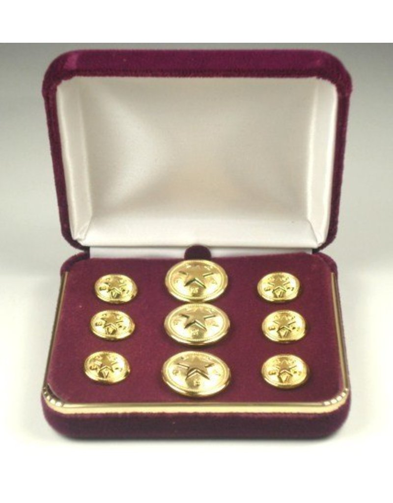 Blazer Button Set - Brass - Texas Star