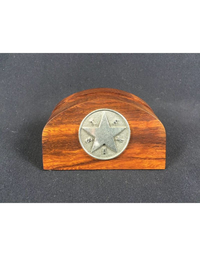 Business Card Holder - Pewter Texas Star