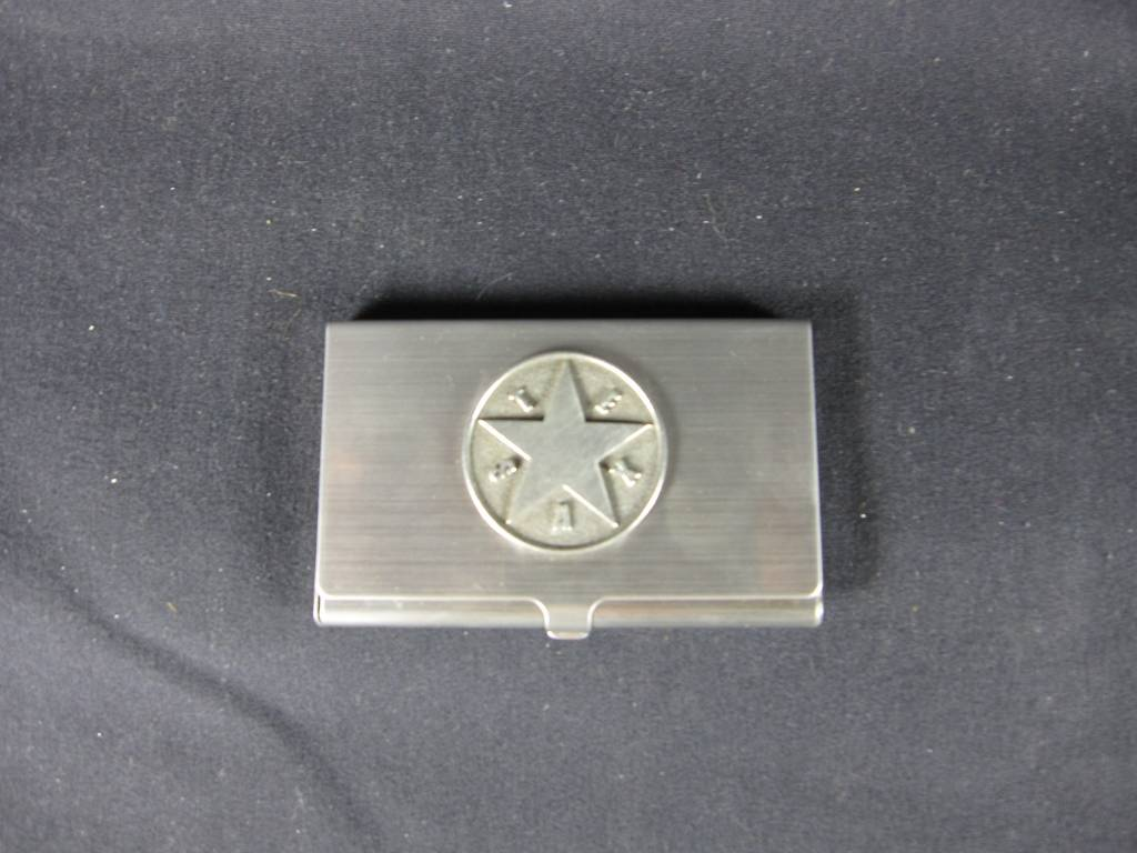 Business Card Case -Pewter - Texas Star