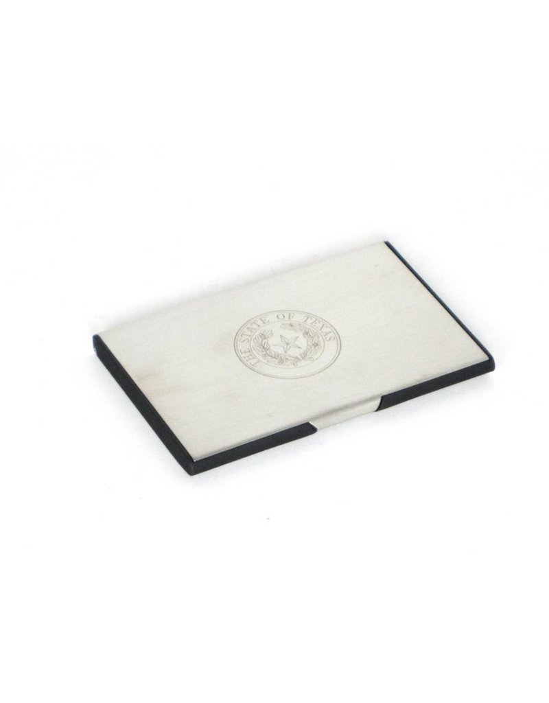 Business Card Case - Stainless - Texas State Seal